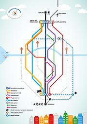 Joustavasti jatkoon metrokartta -juliste